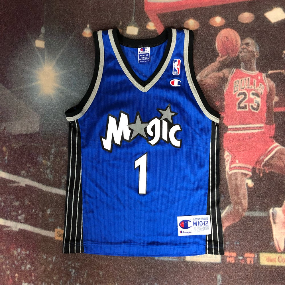 best loved 8f726 21d53 Vintage Champion Orlando Magic Tracy Mcgrady Jersey Youth Size Medium