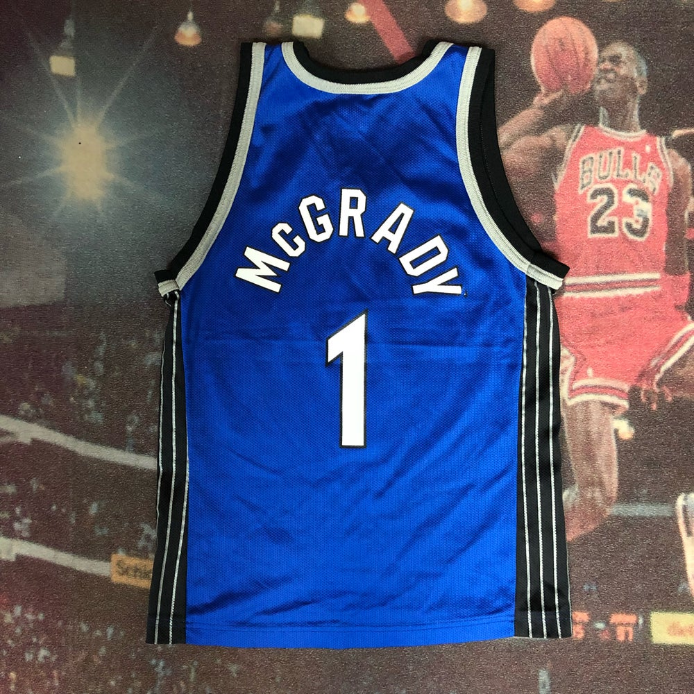 Image of Vintage Champion Orlando Magic Tracy Mcgrady Jersey Youth Size Medium