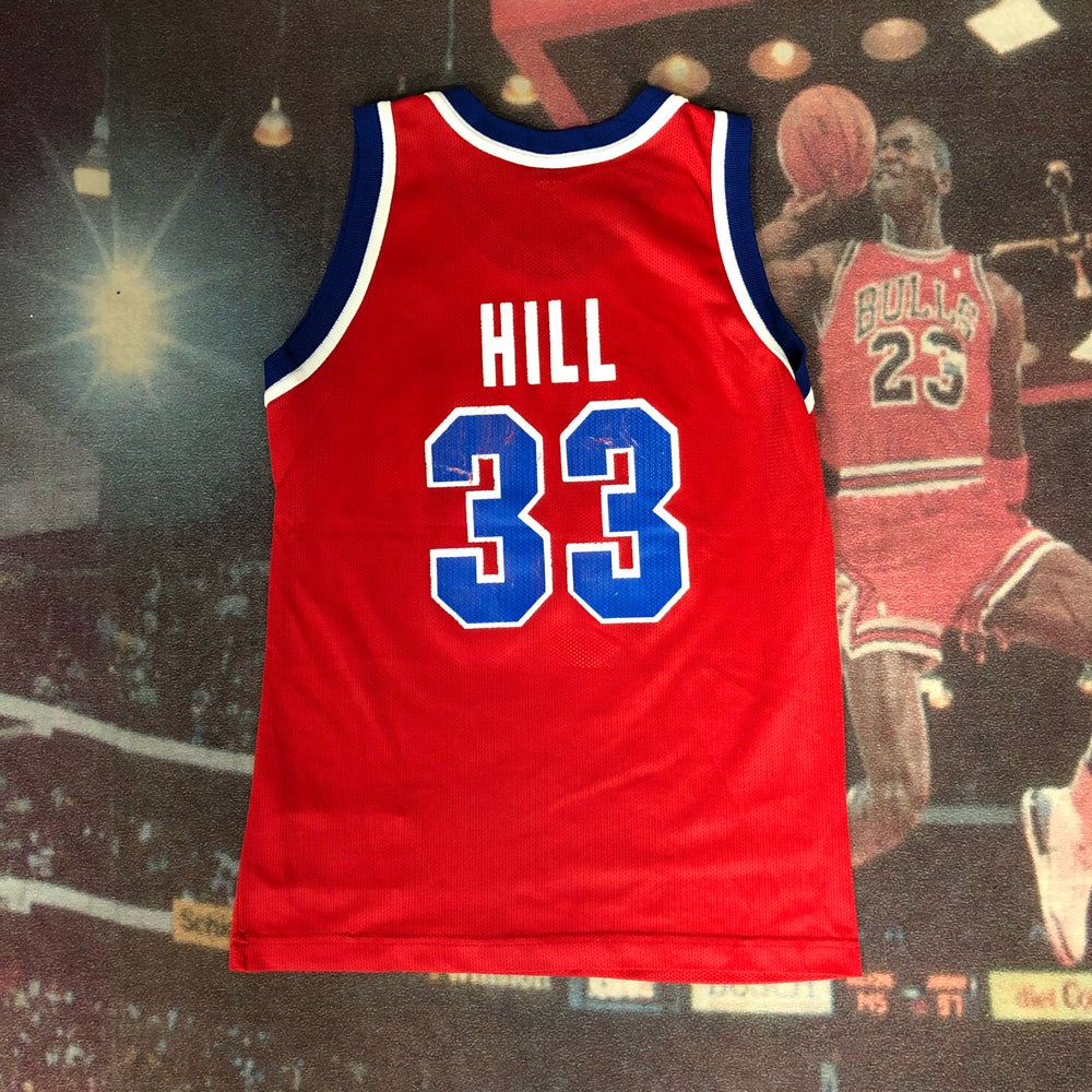 Image of Vintage Champion Detroit Pistons Grant Hill Jersey Youth Size Medium