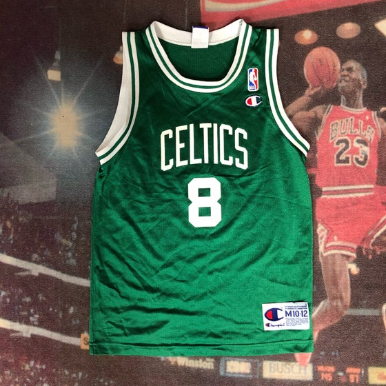 Image of Vintage Champion Boston Celtics Antoine Walker Jersey Youth Size Medium