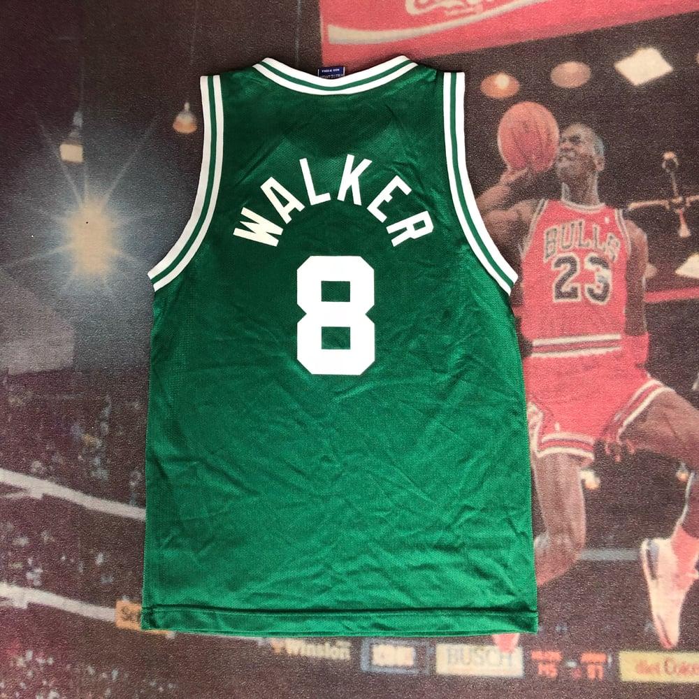 Image of Vintage Champion Boston Celtics Antoine Walker Jersey Youth Size Medium