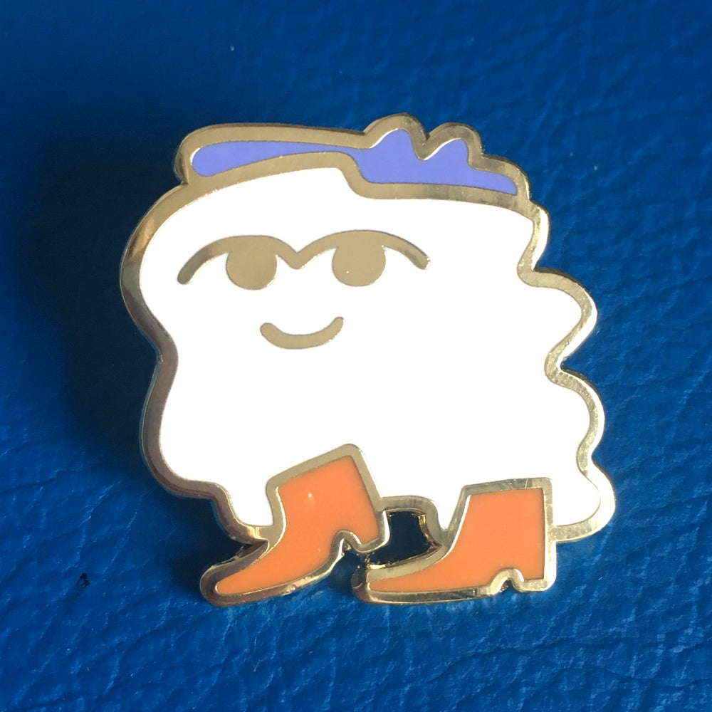 Image of Pearlie, the ghosty with the mosty - limited edition enamel pin