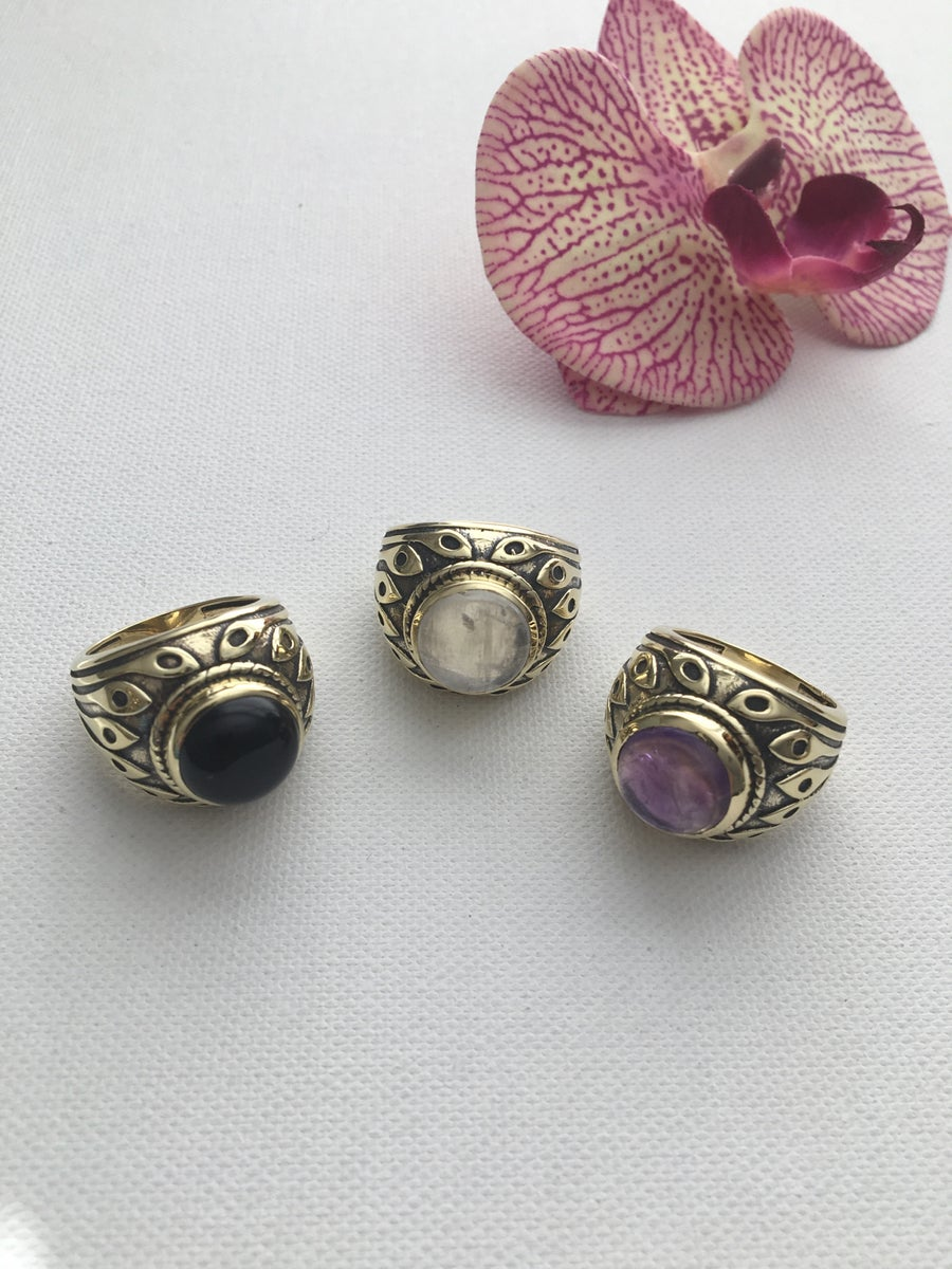 Image of ORACLE Antique Crystal Rings