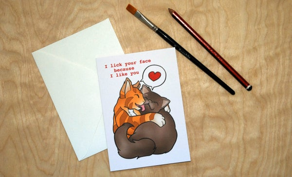 Image of Lick Your Face - Valentines Card