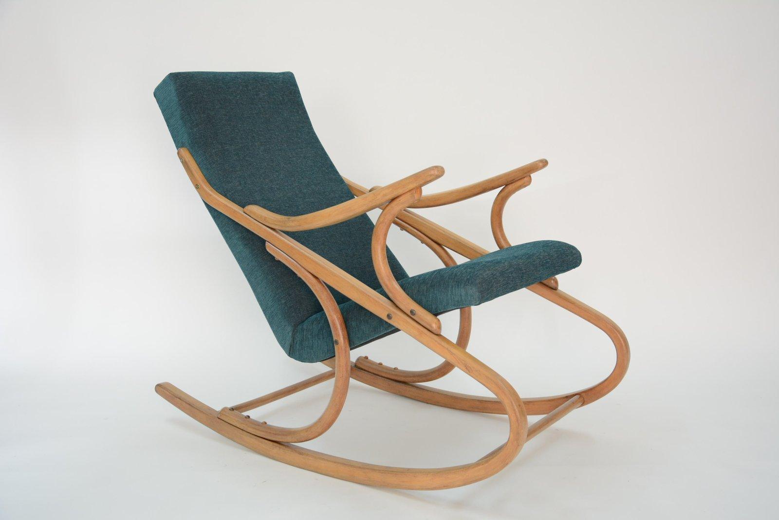 rocking chair tchecoslovaque vert bloc de l 39 est. Black Bedroom Furniture Sets. Home Design Ideas