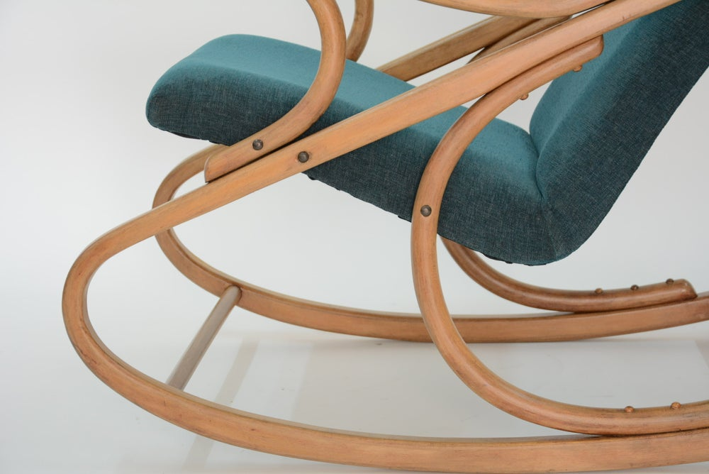 Image of Rocking Chair tchecoslovaque vert