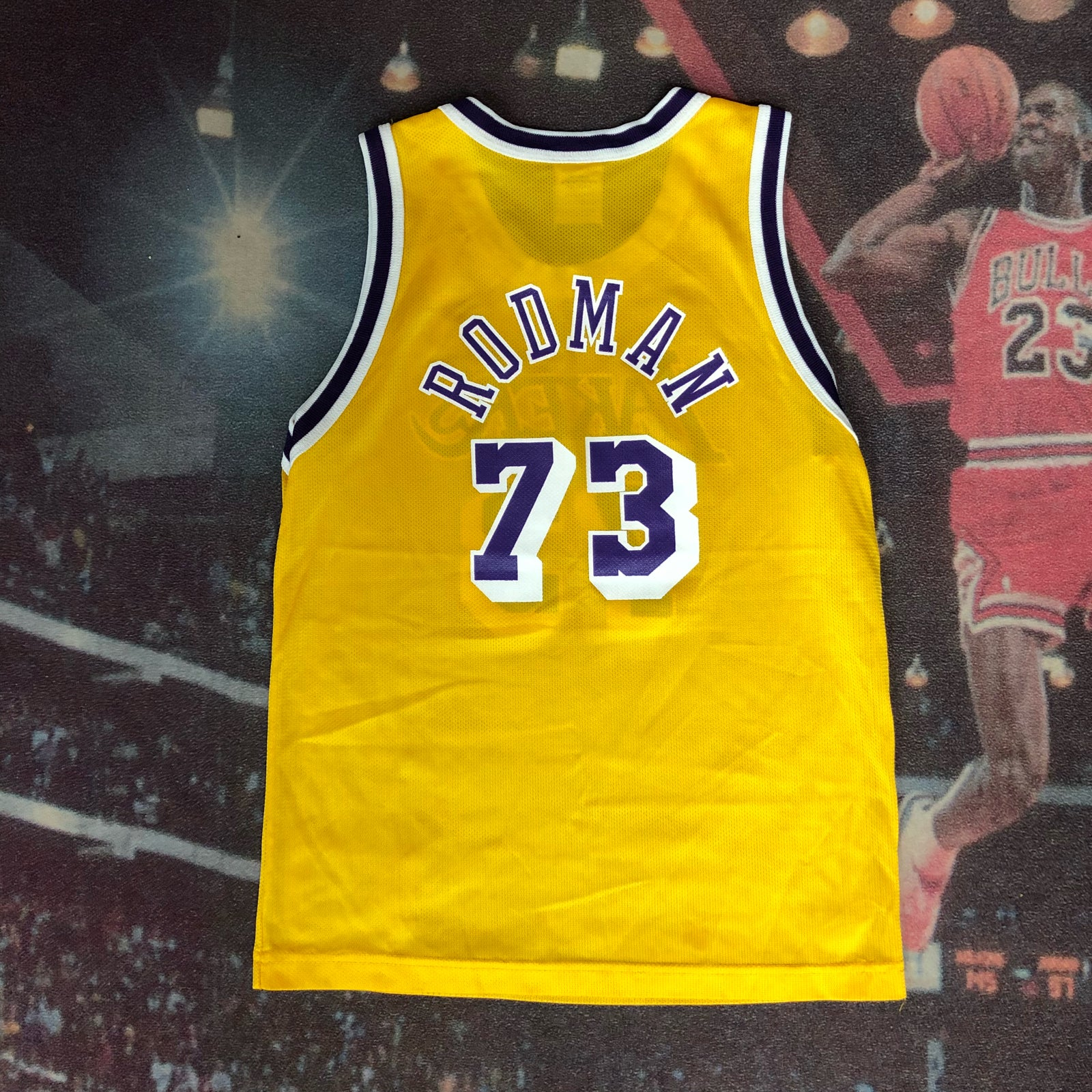 d97fe7e93 ... hot image of vintage champion los angeles lakers dennis rodman jersey  youth size medium 332f8 aaab4