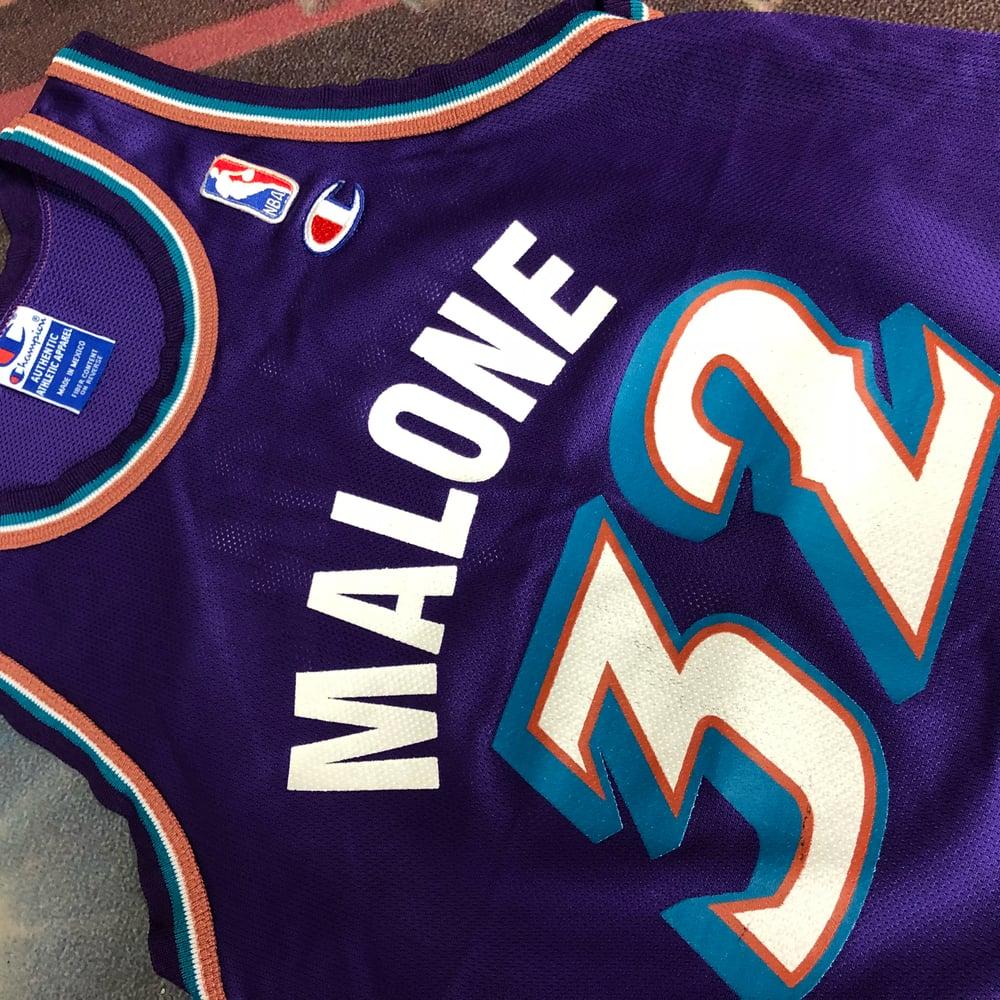 Image of Vintage Champion Utah Jazz Karl Malone Jersey Youth Size Medium