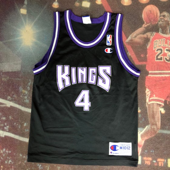 Image of Vintage Champion Sacramento Kings Chris Webber Jersey Youth Size Medium