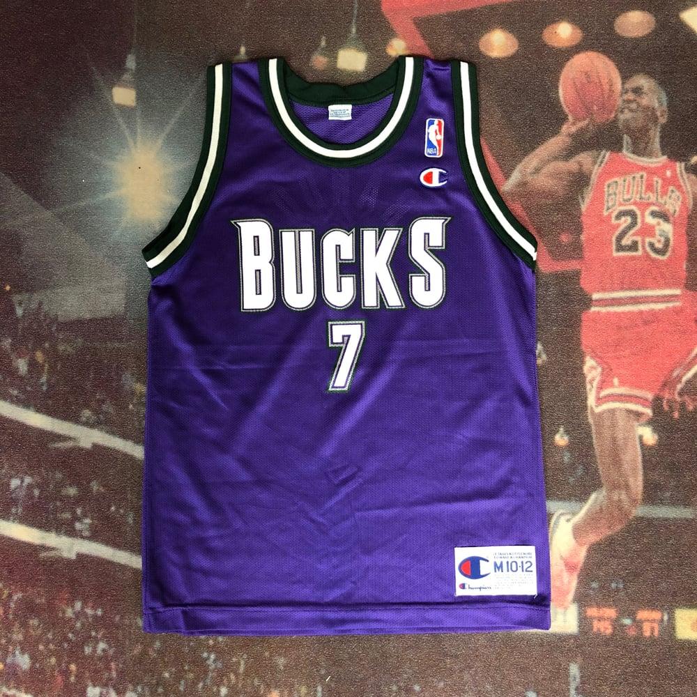 finest selection 65971 d0264 Vintage Champion Milwaukee Bucks Terrell Brandon Jersey Youth Size Medium