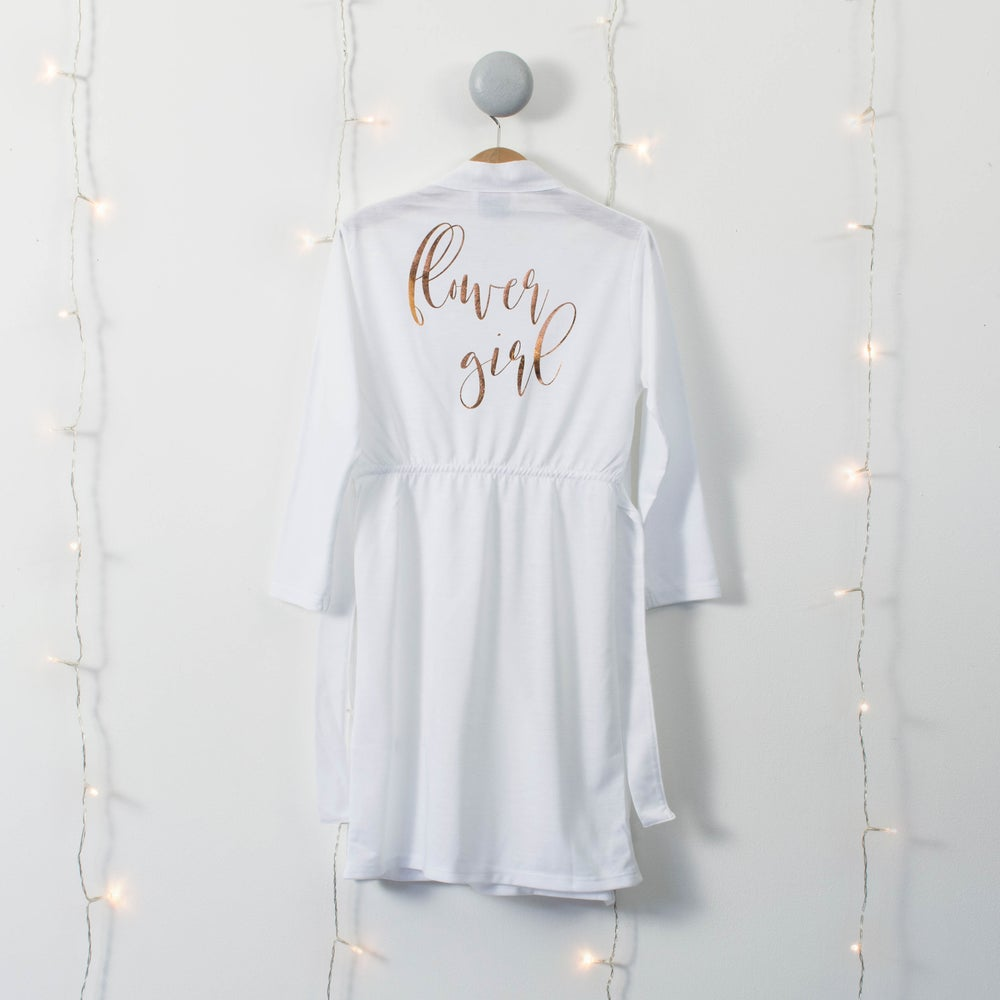 Childs personalised Wedding day dressing gown | Tiny Humans