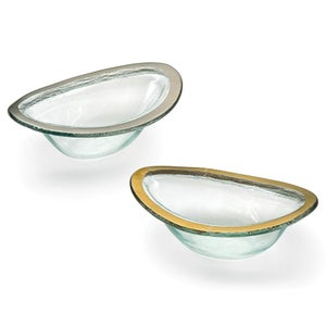 Image of Annieglass Roman Antique Sauce Bowl Gold