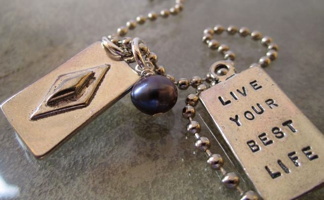 "Image of ""Live Your Best Life"" Pewter Pendant"