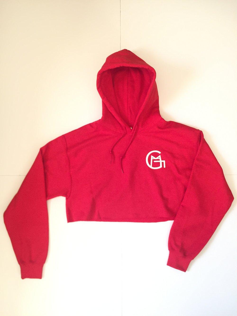 Image of GMAAC Apparel Crop Top Hoodie (Red)