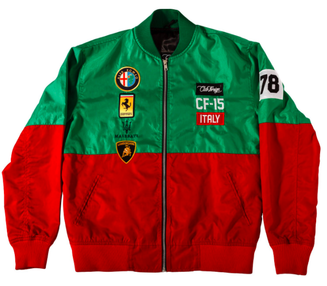 Image of CFG - Red & Green Windbreaker Jacket