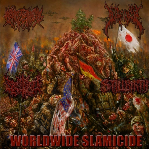 Image of WORLDWIDE SLAMICIDE Split CD feat. CREPITATION, SPLATTERED, GOREVENT, STILLBIRTH