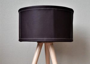 Image of Leather Table Lamp / Lampshade