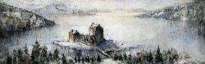 Image of Eilean Donan and the Isle of Skye in Winter