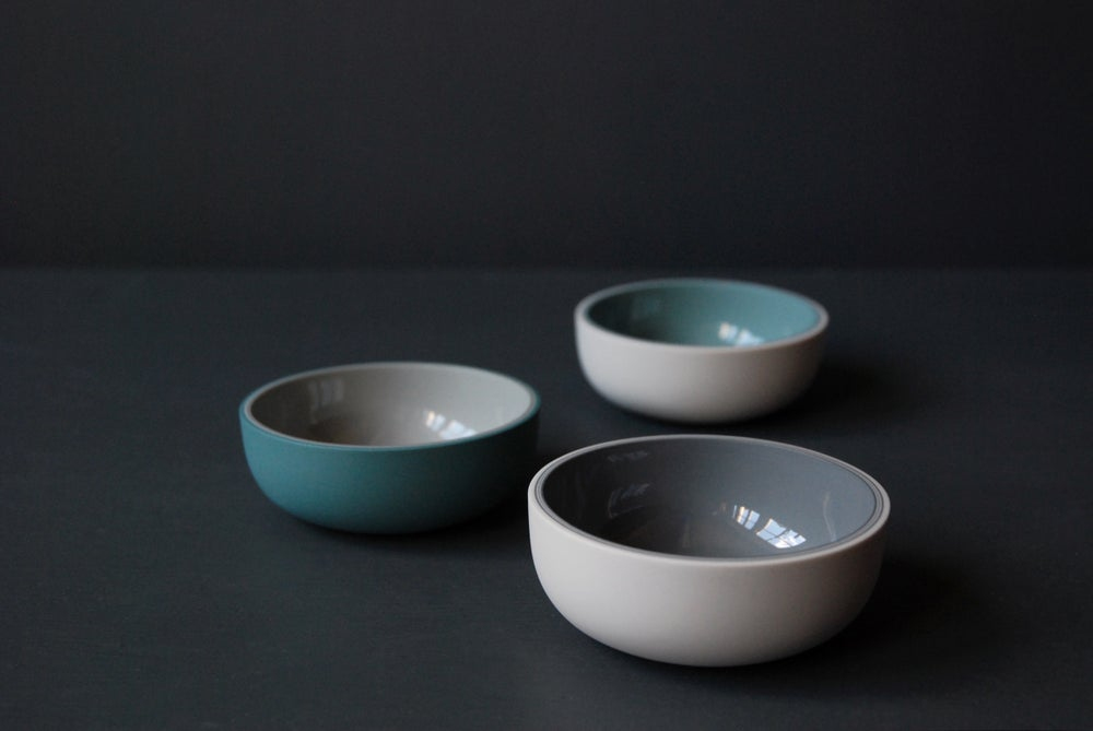 Image of Small shallow glazed vessels