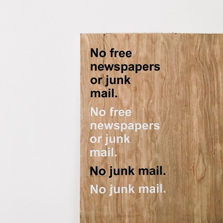 Image of No Junk Mail Stickers