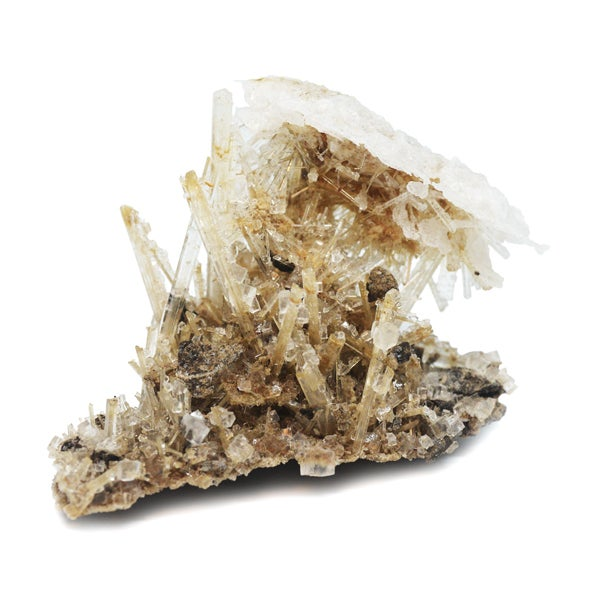 Image of Halite on gypsum