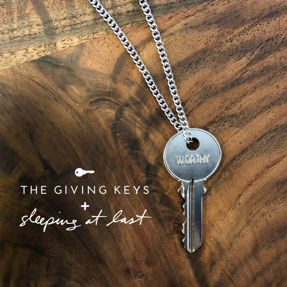 "Image of Enneagram 3 - ""WORTHY"" Key Necklace"
