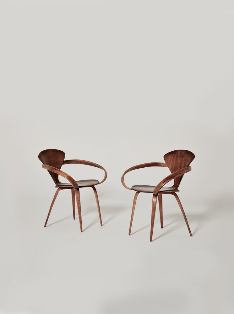 Image of Cherner Pretzel Chairs, Plycraft, USA, 1960s