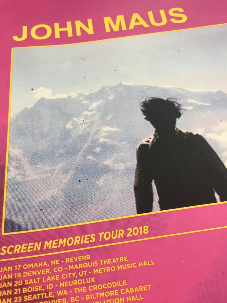 Image of John Maus Screen Memories Tour 2018