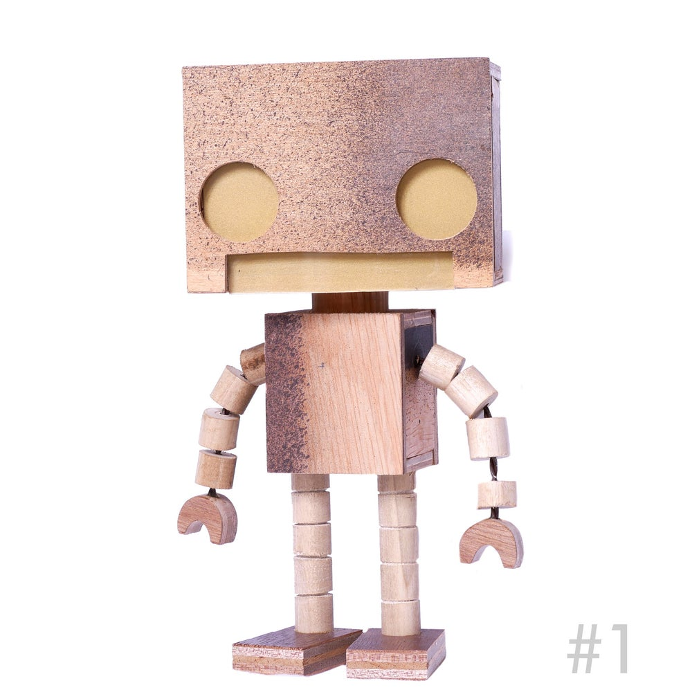 Image of Scrappy  Bot 1/2 Scale wooden Light Up Robot