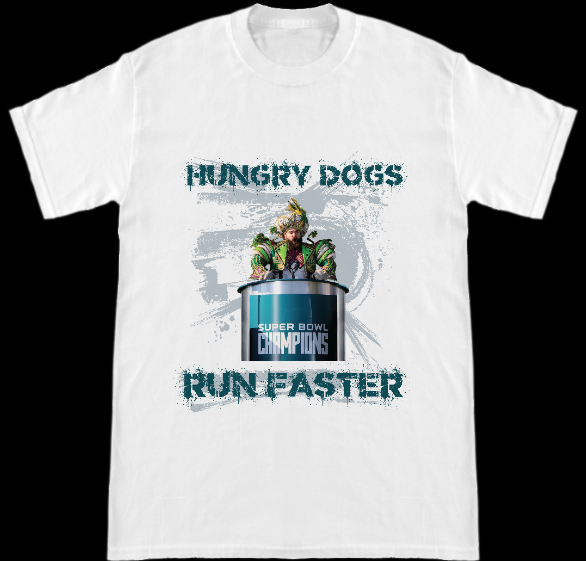 Image of Philadelphia Eagles Super Bowl 52 Champs Hungry Dogs Run Faster Jason Kelce Speech T-Shirt