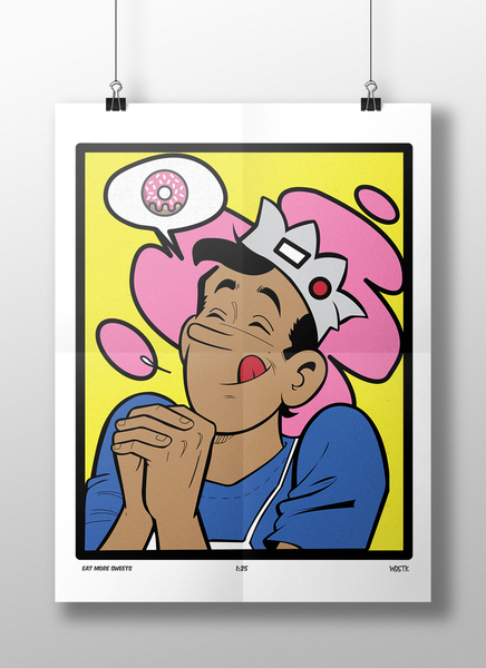 Image of Eat More Sweets High-Quality Art Print (ONLY 25 MADE)