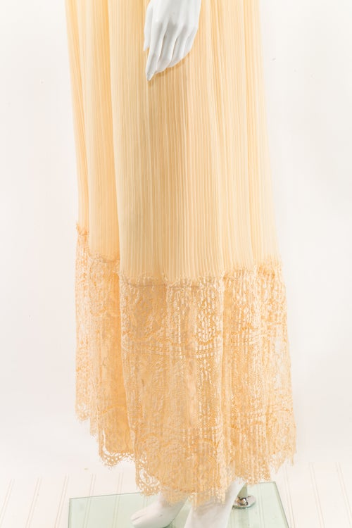 Image of Pleats & Lace Maxi