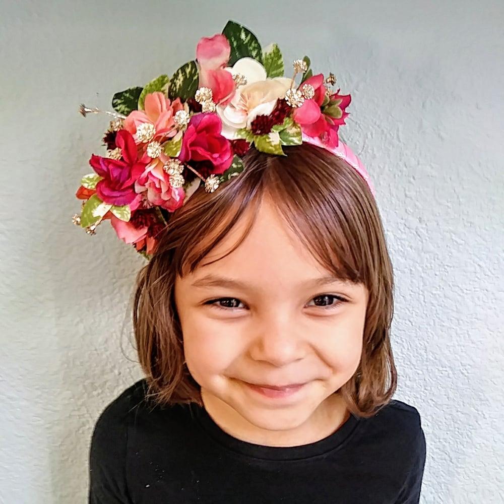 Varigated Girls Flower Crown The Headband Atelier