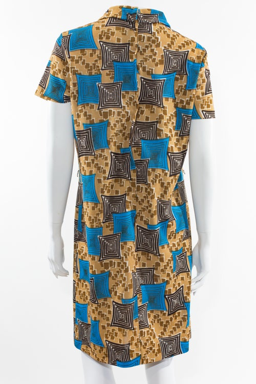 Image of Blue & Brown Mod Dres