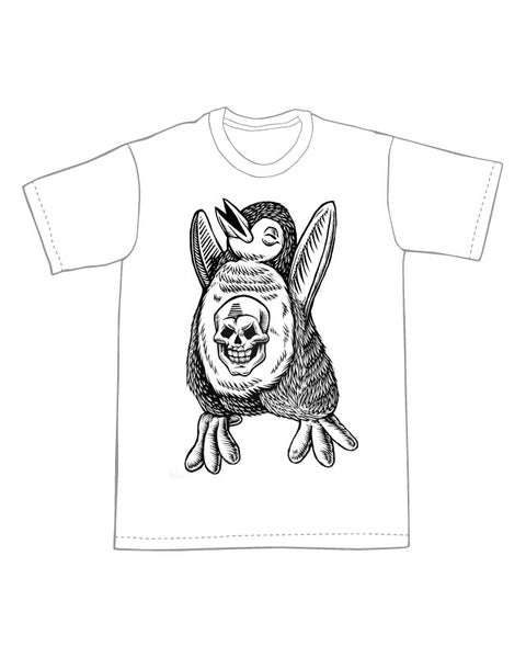 Image of Skull Penguin T-shirt **FREE SHIPPING**