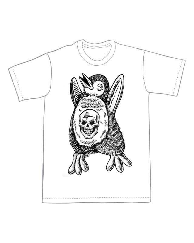 Skull Penguin T-shirt (A2)**FREE SHIPPING**