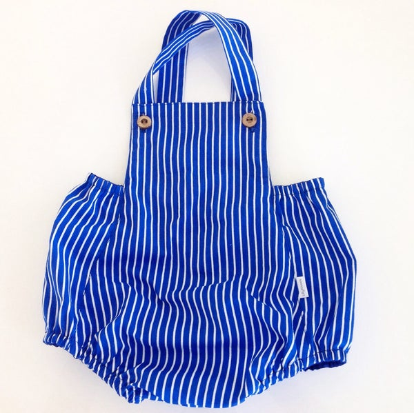 Image of Blue Candy stripe vintage romper