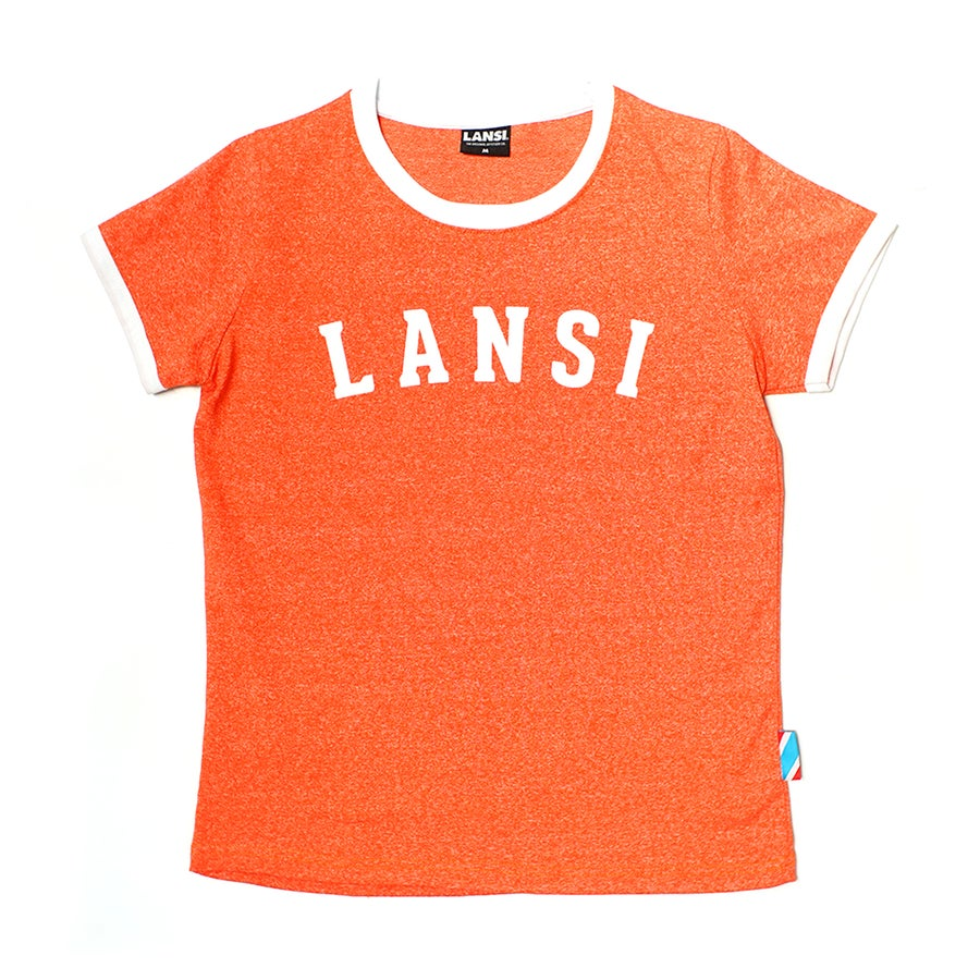 Image of LANSI Vintage Female Staple Tee (Melange Orange)