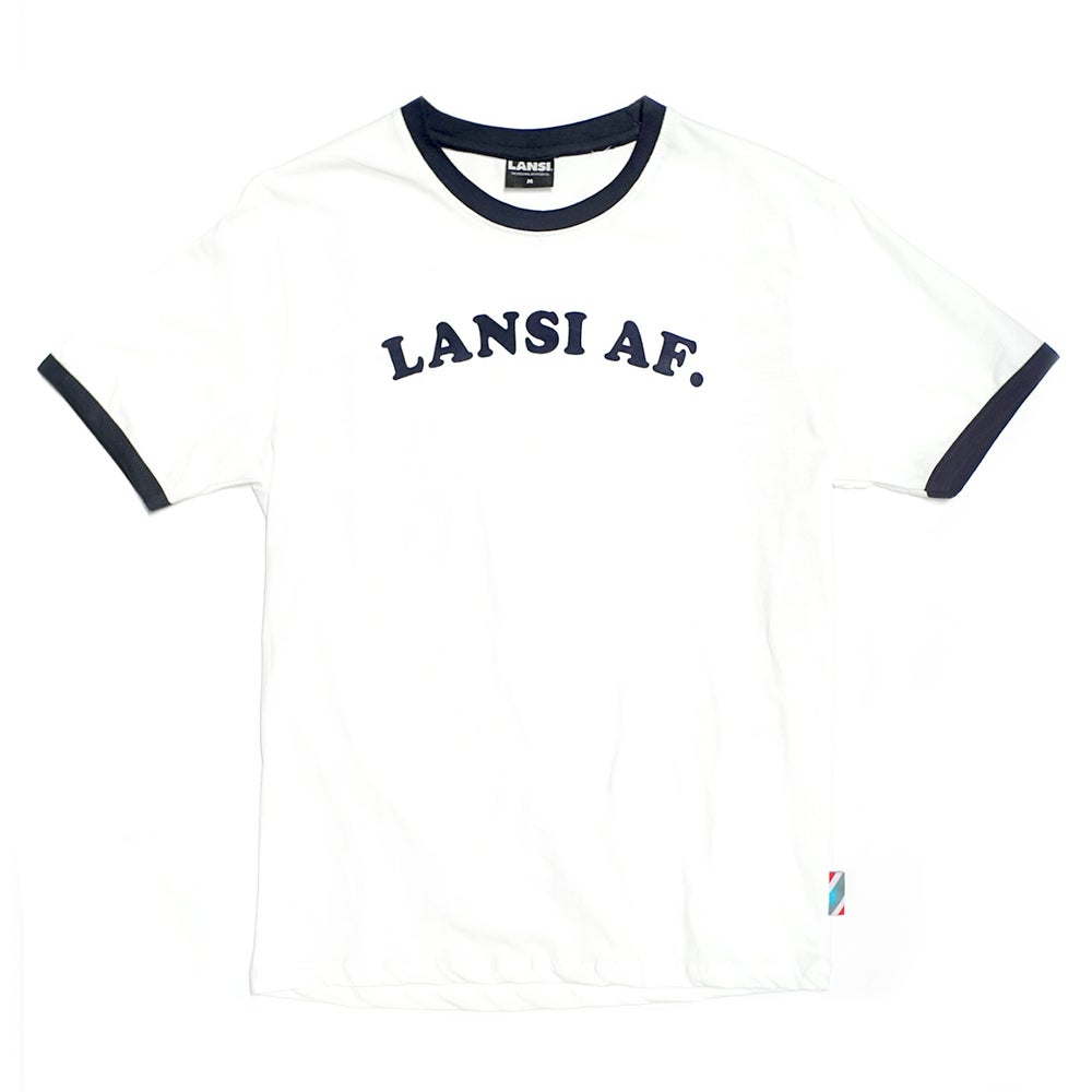 "Image of LANSI Vintage ""Abercrombie"" T-shirt (Off-White/Dark Navy)"