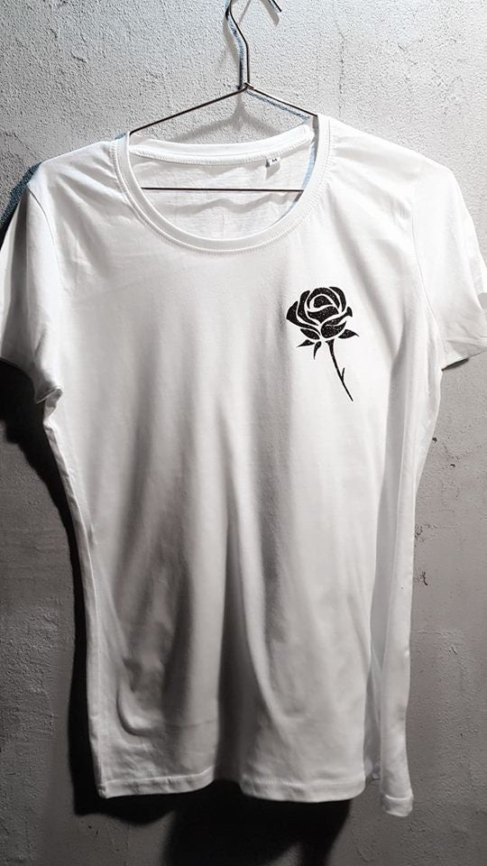Image of Black rose T-shirt