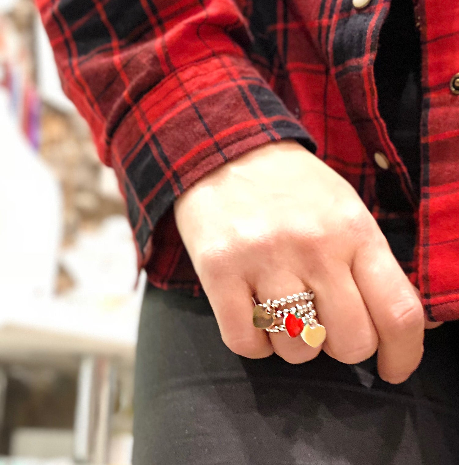Image of 925 charm ring