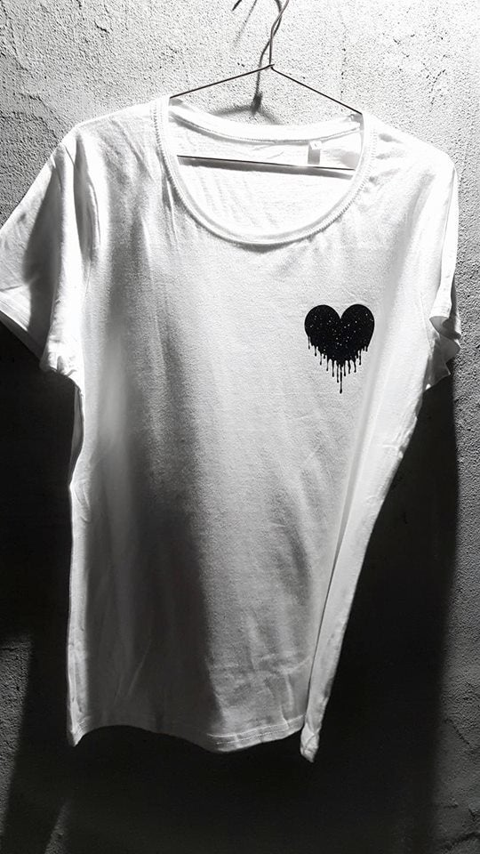 Image of Ripped heart T-shirt