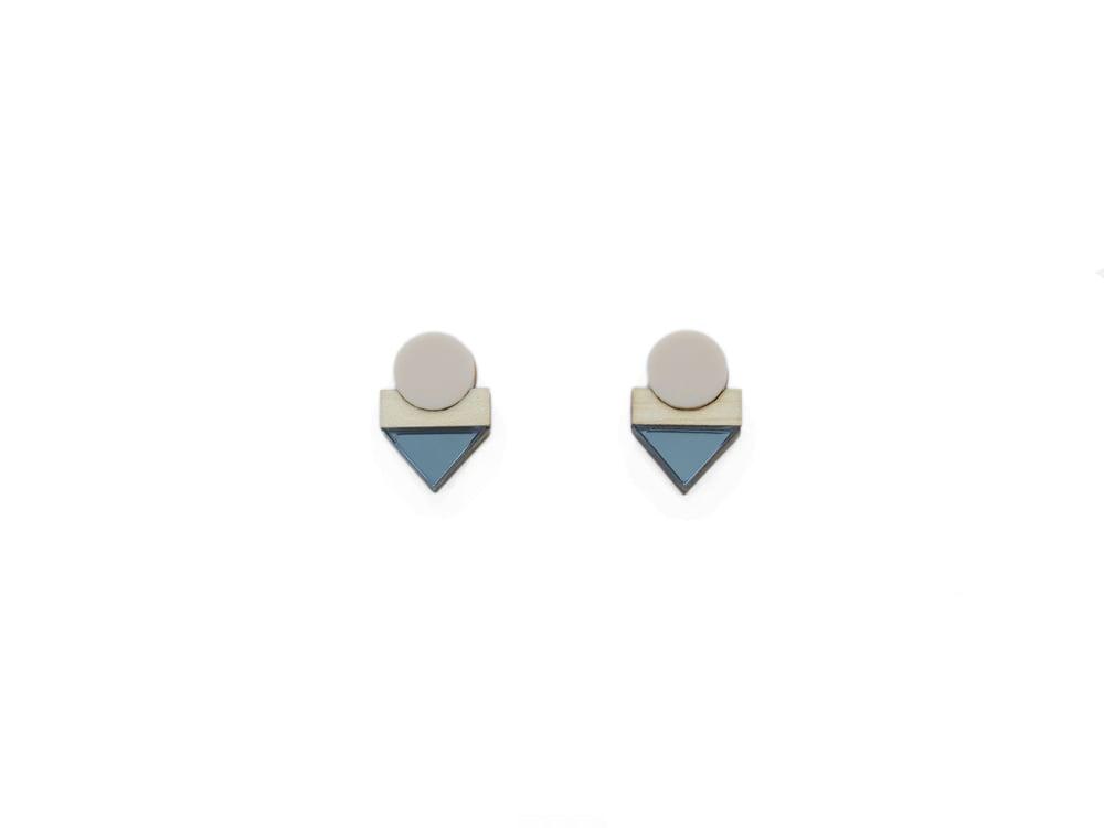 Image of EDIT EARRINGS - BLUE MIRROR