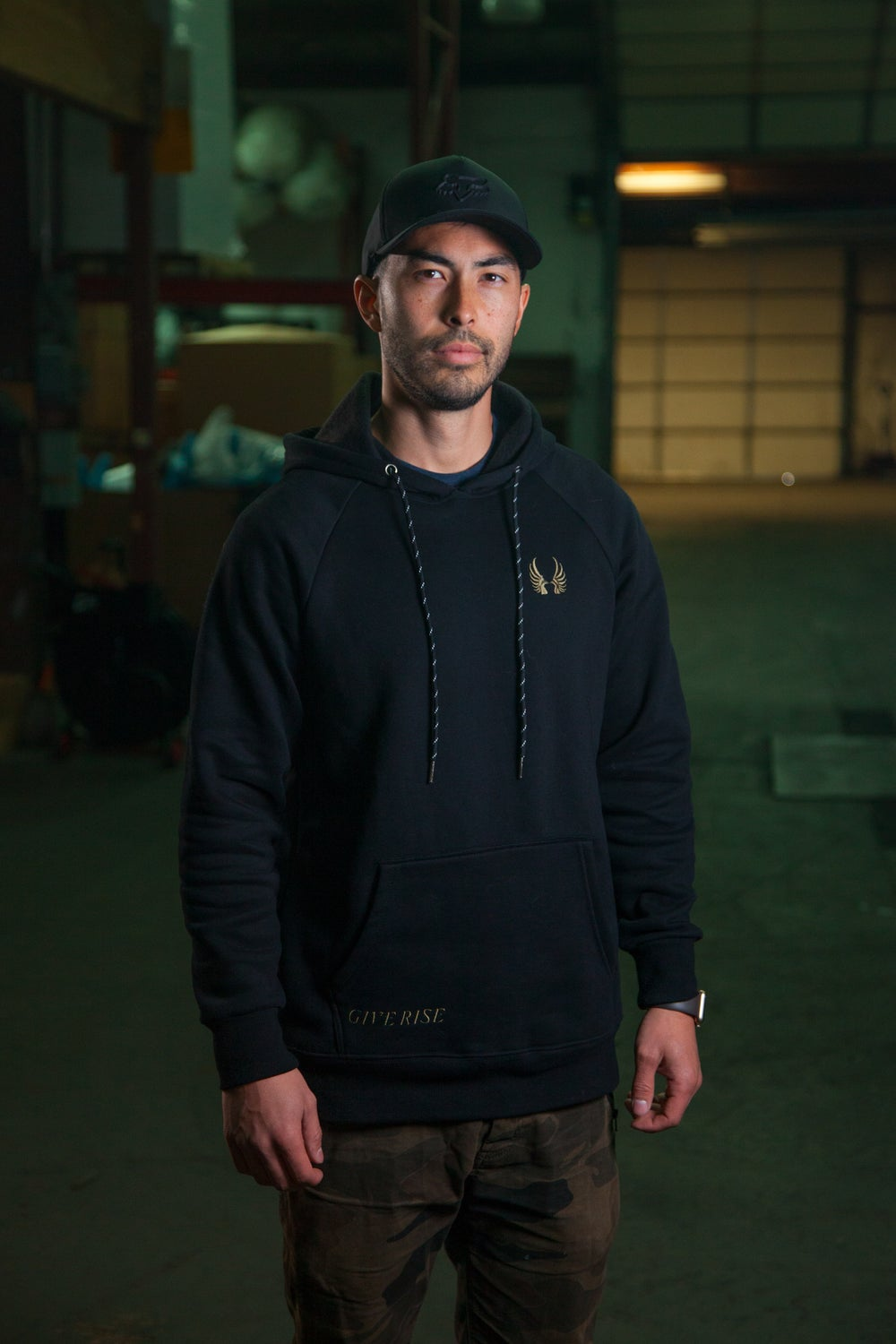Image of Give Rise Tactical Hoodie :: Black