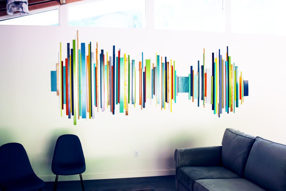 Good Vibes Mid Mod Wall Art Wood Wall Art Wood Wall Sculpture