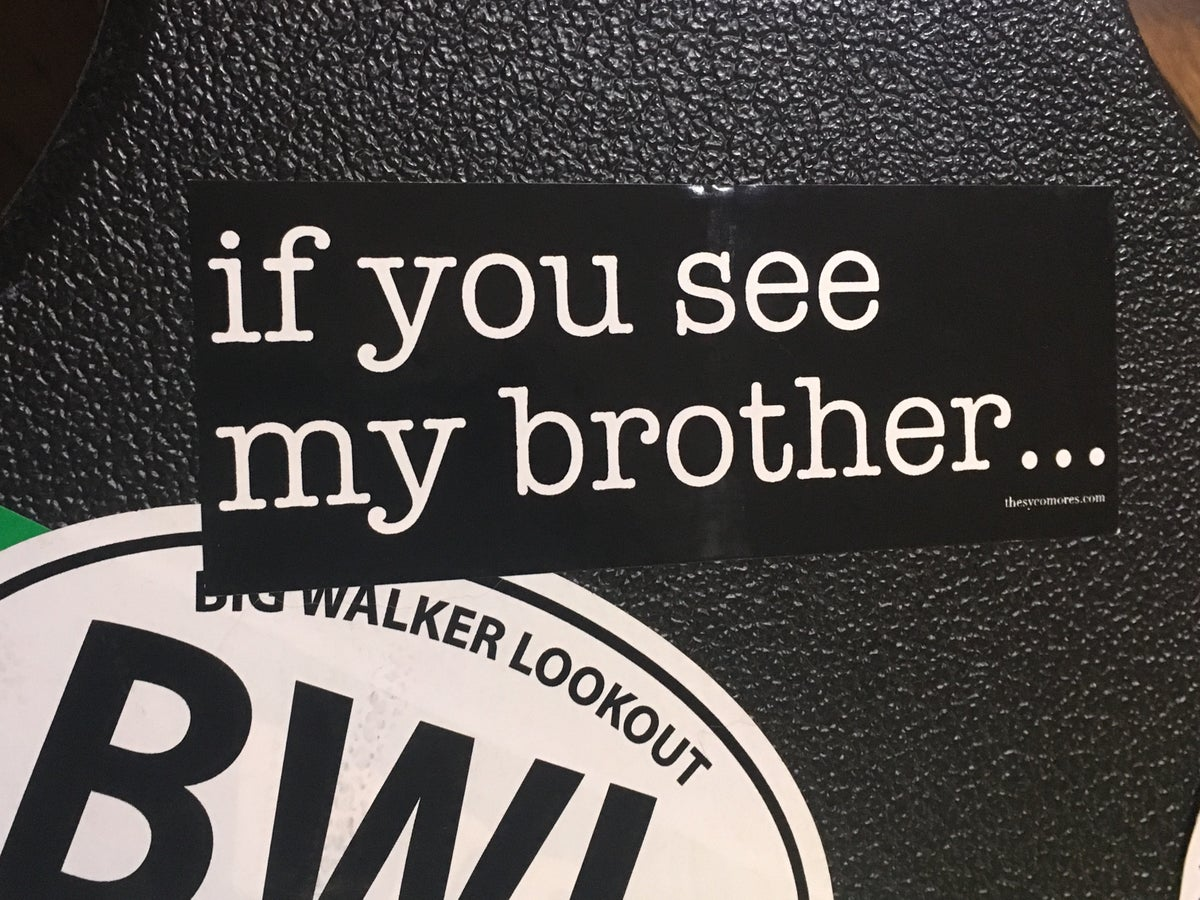 "Image of ""If You See My Brother"" sticker"