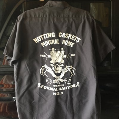 Image of ROTTING CASKETS FUNERAL HOME {PREWORN WORKSHIRT}