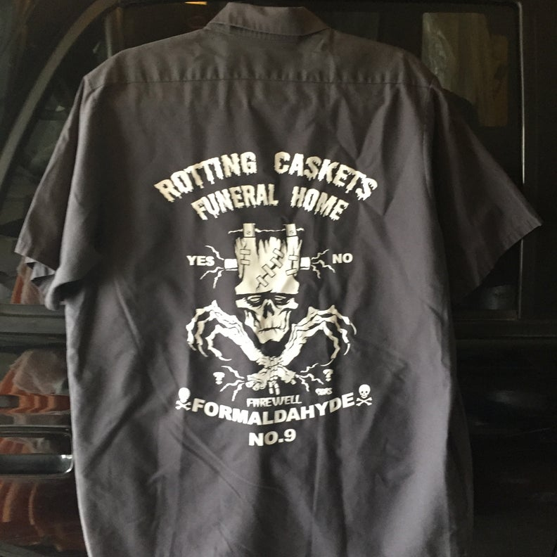 Image of ROTTING CASKETS FUNERAL HOME {PREWORN WORKSHIRT size 2x}