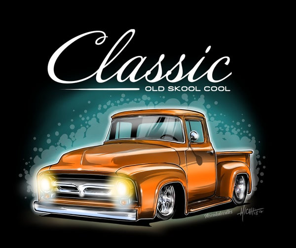 Image of 56 f100% classic ol skool orange