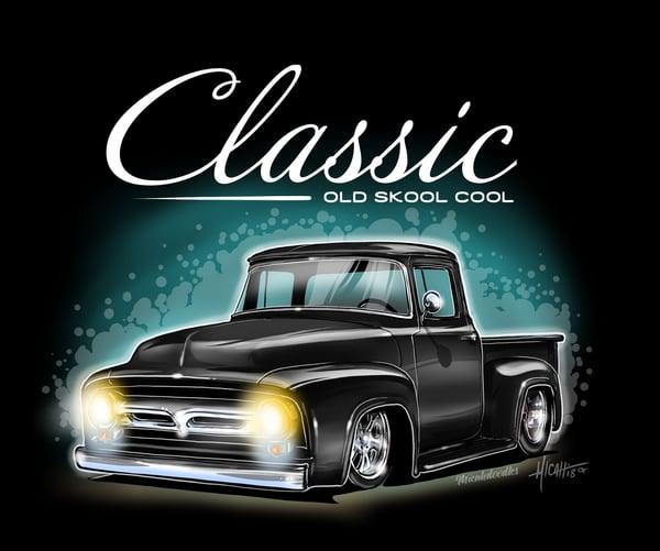 Image of 1956 Classic Ol Skool f100% black